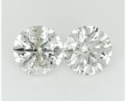 2/0.78 CTS , Round Natural Diamonds , Light Color Diamonds