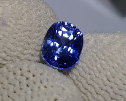 UNHEATED CERTIFIED 1.05 CTS TOP QUALITY CORNFLOWER BLUE SAPPHIRE CEYLON SRI