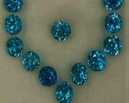 10.46 ct BlueZircon  100 % Natural   Gemstones