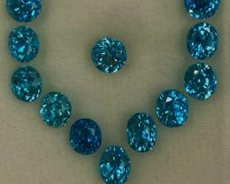 10.46 ct BlueZircon  100 % Natural   Gemstones