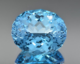 Natural Blue Topaz 59.78 Cts Perfect Precision Cut