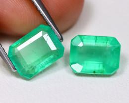 Zambian Emerald 2.91Ct Octagon Cut Natural Green Color Emerald BT0350