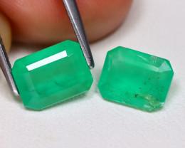 Zambian Emerald 2.75Ct Octagon Cut Natural Green Color Emerald BT0352