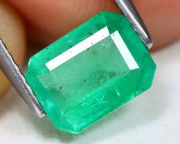 Zambian Emerald 1.52Ct Octagon Cut Natural Green Color Emerald BT0355