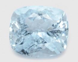 1.55 Cts Un Heated Blue  Natural Aquamarine Loose Gemstone