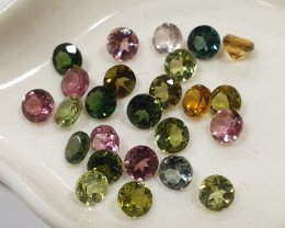 Tourmaline Lot Round 3mm Brilliant Cut (SKU 76)
