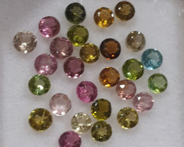 Tourmaline Lot Round 2.5mm Brilliant Cut (SKU 83)