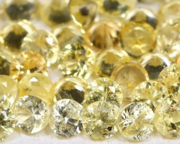 1.52Ct Calibrate 1.7mm Round Natural Ceylon Yellow Color Sapphire AB124