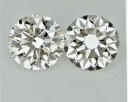 2/0.42 CT , Natural Light Colored Diamonds , Loose Diamonds