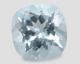 1.97 Cts Un Heated Blue  Natural Aquamarine Loose Gemstone