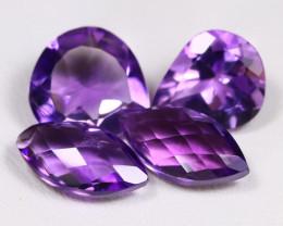 Amethyst 13.58Ct 4Pcs Fancy Cut Natural Bolivian Purple Amethyst AB002