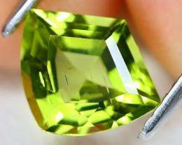 Peridot 1.59Ct VS2 Shield Cut Natural Neon Green Color Peridot AB009