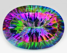 13.36  Cts Fancy Multi Color Natural Mystic Topaz