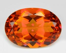 5.36 Cts Rare Fancy Orange Red Color Natural Mystic Topaz