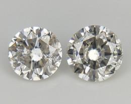 2/0.39 cts , Round Natural Diamonds ,Loose Diamond Gemstones