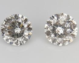 2/0.47 CTS , Salt and Pepper Diamonds , Loose Diamonds