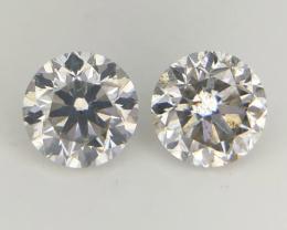 2/0.37 CT , Round Natural Diamonds , Light Colored Diamond