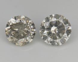 2/0.50 CT , Round Brilliant Cut , Diamonds For Jewelry