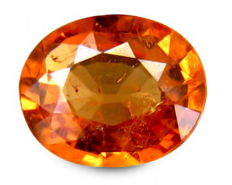 Africa Spesstite Garnet 0.77 Cts Mandarine Orange Antique Step Cut BGC103