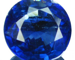 1.25Cts Natural untreated Royal blue Kyanite round 6.50mm