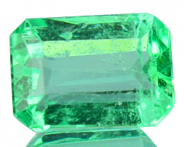 0.38 Cts Natural Colombian Green Emerald