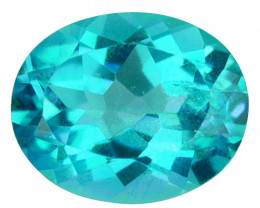 2.80Cts Natural Paraiba colour coated topaz oval 10 X 8mm