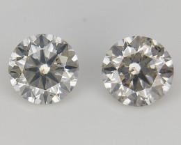2 PCS /0.28 CT , Natural Yellow Diamonds , Diamonds for Jewelry