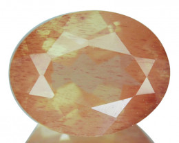 1.92 Cts Natural Greenish Red Sunstone Andesine Oval Cut Congo