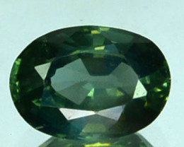 ~UNHEATED~ 0.69 Cts Beautiful Natural Sapphire Green Oval Madagascar