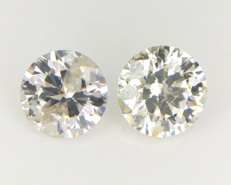 2/0.25 CT , Light Colored Diamond , 2 pcs Diamond