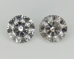 2/0.20 CTS , Natural Diamonds , Diamond 2 pcs