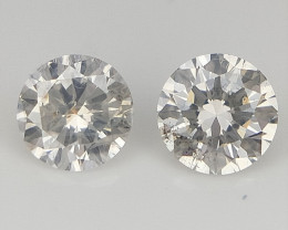 2/0.15 CTS , Natural Light Colored Diamonds , Round Diamonds