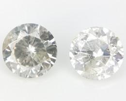 2/0.30 CT , Loose Natural Diamonds ,Diamond 2 pcs