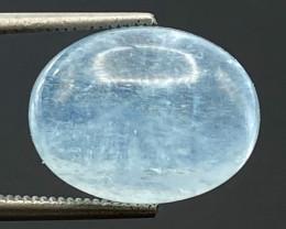 7.22Ct Aquamarine Excellent Color Beautiful Quality Cabochon.AQC 22
