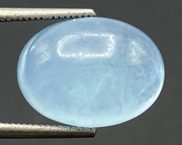 5.71Ct Aquamarine Excellent Color Beautiful Quality Cabochon.AQC 33