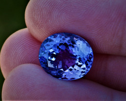 9.31cts Natural GIA Certified Tanzanite    Oval Cut