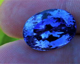 13.72cts Natural GIA Certified Tanzanite     Oval Cut
