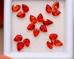 2.97ct Natural Songea Orange Sapphire Pear Cut Lot GW7933