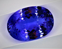 15.97cts Natural Certified Tanzanite   Oval Cut