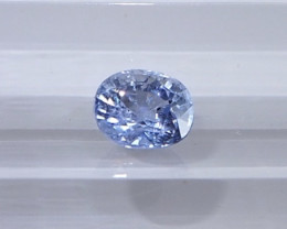 0.72ct unheated light blue sapphire
