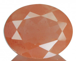 1.67 Cts Natural Greenish Red Sunstone Andesine Oval Cut Congo