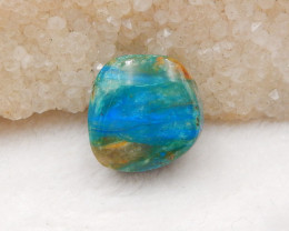 21cts Blue Opal Necklace, October Birthstone, Blue Opal Pendant Bead H867