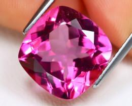 Pink Topaz 8.83Ct VS2 Square Cut Natural Vivid Pink Topaz B1456