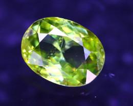Sphene 1.30Ct Natural Rainbow Flash Green Sphene DF1311/B41