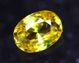 Sphene 1.27Ct Natural Rainbow Flash Green Sphene DF1312/B41
