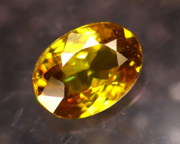 Sphene 1.25Ct Natural Rainbow Flash Green Sphene DF1314/B41