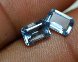 1.700 CRT 2 PCS PAIR BEAUTY CUT AQUAMARINE-