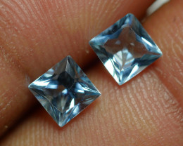 1.275 CRT 2 PCS PAIR BEAUTY CUT AQUAMARINE-