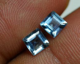 1.095 CRT 2 PAIR BEAUTY CUT AQUAMARINE-