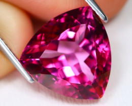 Pink Topaz 8.97Ct VVS Trillion Cut Natural Vivid Pink Topaz B1434